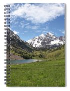 Maroon Bells Trail Panorama Spiral Notebook