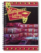 Marquee Motel 1960's Wildwood, Nj, Copyright Aladdin Color Inc. Spiral Notebook