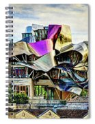 marques de riscal Hotel at sunset - frank gehry - vintage version Spiral Notebook