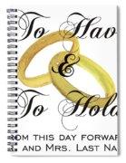 Marriage Vows Spiral Notebook