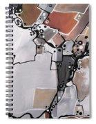 Marron Mapa Spiral Notebook