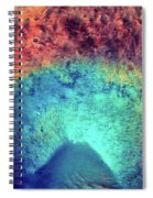 Mars Crater Surface Colorful Painting Spiral Notebook