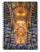 Marseille, France, Inside Of Notre-dame De La Garde Catholic Basilica Spiral Notebook