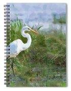 Marsh Egret Spiral Notebook