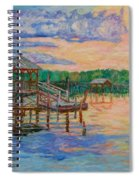 Marsh View At Pawleys Island Spiral Notebook