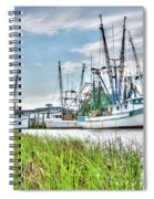 Marsh View Shrimp Boats Spiral Notebook