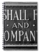 Marshall Field Plaque Spiral Notebook
