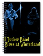 Marshall Tucker Winterland 1975 #18 Enhanced In Blue With Text Spiral Notebook
