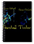 Marshall Tucker Winterland 1975 #19 Enhanced In Cosmicolors With Text Spiral Notebook