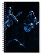 Marshall Tucker Winterland 1975 #36 Enhanced In Blue Spiral Notebook
