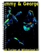 Marshall Tucker Winterland 1975 #36 Enhanced In Cosmicolors With Text Spiral Notebook