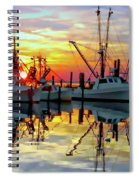 Marshallberg Harbor Sunset Spiral Notebook