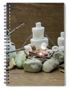 Marshmallow Family Making S'mores Over Campfire Spiral Notebook