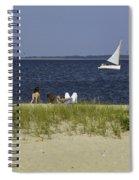A Day At The Beach 2 - Martha's Vineyard Spiral Notebook