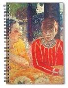 marthe in red blouse c1928 Pierre Bonnard Spiral Notebook