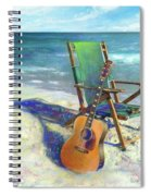 Martin Goes To The Beach Spiral Notebook