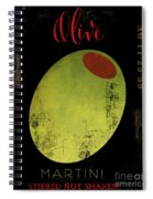 Martini Olive Spiral Notebook
