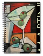 Martini Poster Spiral Notebook