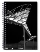 Martini Sign B-w Spiral Notebook