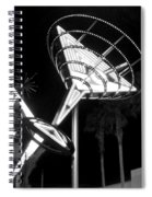 Martini Sign In Vegas B-w Spiral Notebook