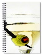 Martini With Green Olive Spiral Notebook