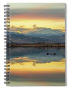 Marvelous Mccall Lake Reflections Spiral Notebook