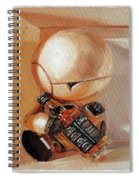 Marvin, Paranoid Android In A Box Spiral Notebook