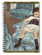 Mary Cassatt-little Girl In A Blue Armchair1878 Po Amp 059 Mary Cassatt Spiral Notebook