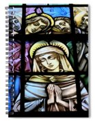 Mary In The Middle Spiral Notebook