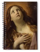 Mary Magdalene In Ecstasy At The Foot Of The Cross 1629 Spiral Notebook