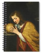 Mary Magdalene In Meditation  Spiral Notebook