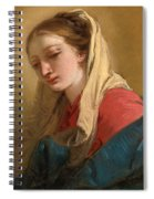 Mary Magdalene In Three-quarter View Veiled In A White Cloth Spiral Notebook