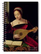 Mary Magdalene Playing The Lute Spiral Notebook