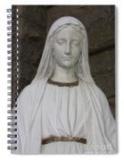Mary Statue At Sacred Heart In Tampa Spiral Notebook