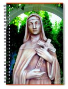 Mary With Cross Spiral Notebook