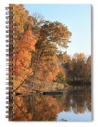 Maryland Autumns - Clopper Lake - Kingfisher Overlook Spiral Notebook