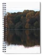 Maryland Autumns - Lake Elkhorn - Red Roof Spiral Notebook