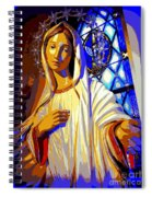 Marys Circle Of Stars Spiral Notebook
