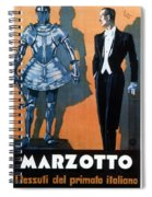 Marzotto - Italian Textile Company - Vintage Advertising Poster Spiral Notebook