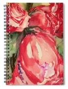 Ma's Roses 4 Spiral Notebook