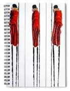 Masai Warrior Triptych - Original Artwork Spiral Notebook