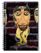 Mascaras 1 Spiral Notebook