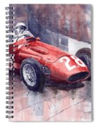 Maserati 250 F Gp Monaco 1956 Stirling Moss Spiral Notebook