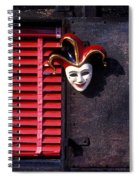 Mask By Window Spiral Notebook