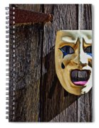 Mask On Barn Door Spiral Notebook
