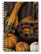 Masked Pumpkin Spiral Notebook