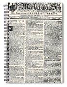 Massachusetts Spy, 1776 Spiral Notebook