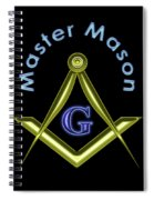 Master Mason In Black Spiral Notebook