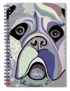 Mastiff In Denim Colors Spiral Notebook