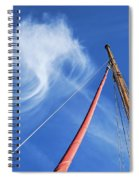 Masts And Clouds Spiral Notebook